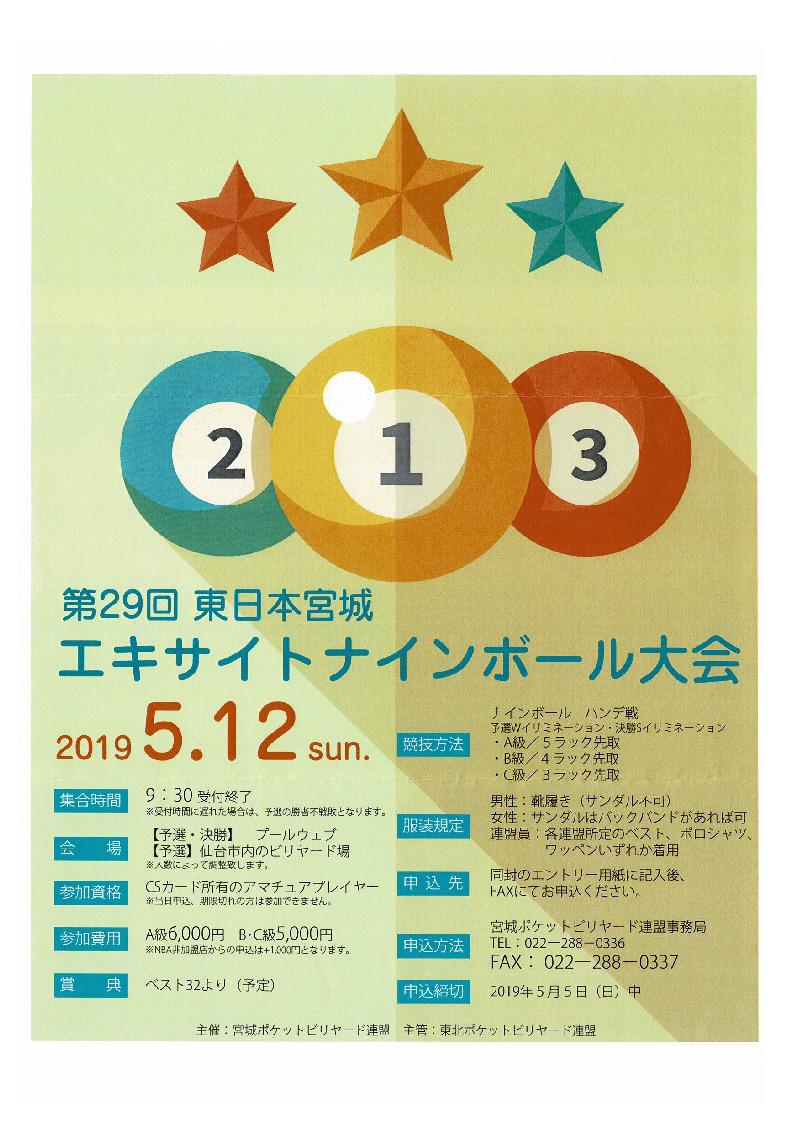 東日本宮城エキサイトナインボール大会